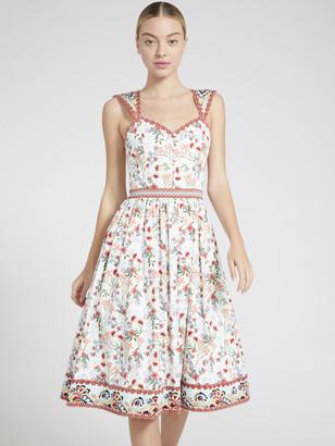 Alice + Olivia Portia Sweetheart Midi Dress