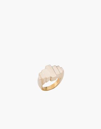 Madewell Charlotte Cauwe Studio Brass Deco I Ring