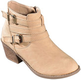 Taupe Buckle Bootie