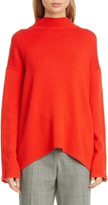Monse Open Cowl Back Merino Wool Sweater