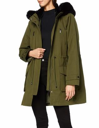 Meraki Amazon Brand Women's Parka Faux Fur Hooded Coat