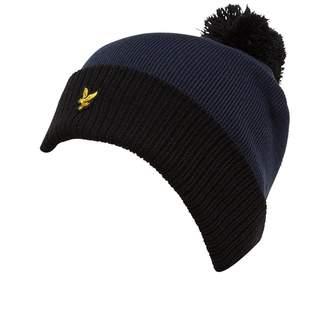 Lyle & Scott Vintage Mens Bobble Hat Black/Navy