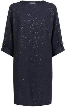 Brunello Cucinelli Sequin-Embellished Knit Dress