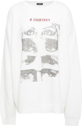 R 13 Embroidered Printed French Cotton-blend Terry Sweatshirt