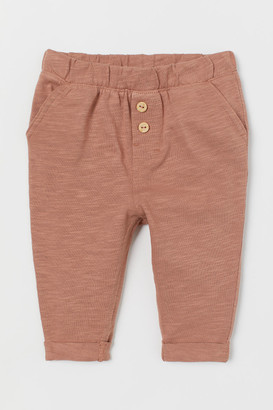 H&M Slub Jersey Pants - Orange