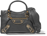 Balenciaga City Metallic Edge Mini Textured-leather Tote - Black