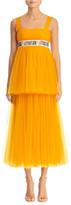 Carolina Herrera Embroidered Empire-Waist Tiered-Tulle Dress