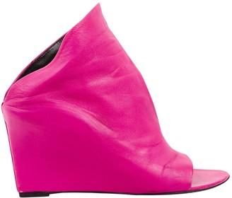 Balenciaga Pink Leather Mules & Clogs