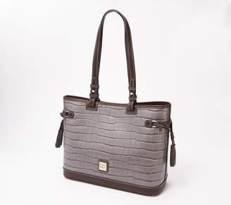Dooney & Bourke Croco-Embossed Leather Tassel Shoulder Bag