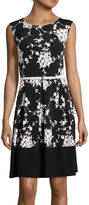 Tiana B Cap-Sleeve Fit-and-Flare Dress - Tall