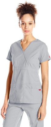 Dickies Women's EDS Signature Mock Wrap Top with Multiple Pockets