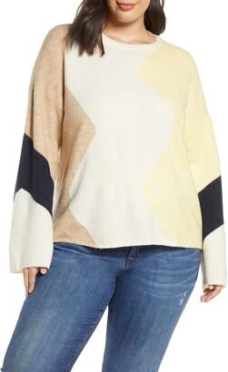 Vero Moda Curve Rana New Block Sweater