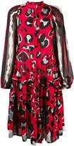 Class Roberto Cavalli Flared Leopard Print Dress