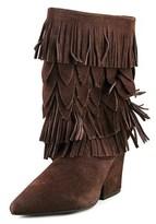 Mojo Moxy Wicken Women Pointed Toe Suede Mid Calf Boot.