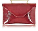 M2Malletier Annabelle Lipstick Red Patent Leather Clutch w/Chain