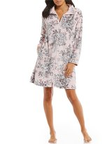 Miss Elaine Floral French Fleece Zip Robe