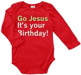 Urban Smalls Red 'Go Jesus It's Your Birthday' Long-Sleeve Bodysuit - Infant