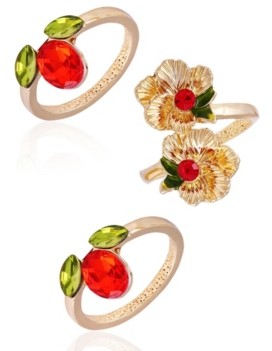 Nanette Lepore Winter Garden Set of 3 Stack Rings