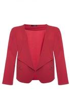 Quiz Curve Red Zip Detail Jacket
