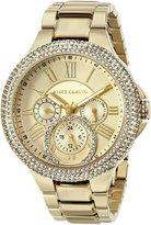 Vince Camuto Women's VC/5178CHGB Swarovski Crystal-Accented Multi-Function -Tone Bracelet Watch