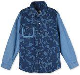 Stella McCartney blue camo samuel shirt
