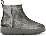 Philippe Model Paris metallic shearling boots