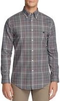 Brooks Brothers Plaid Brushed Cotton Slim Fit Button Down Shirt