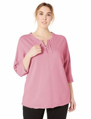 Jag Jeans Women's Plus Size Debbie Lace up Sweatshirt