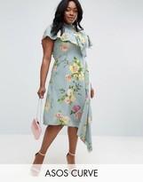 Asos Asymmetric Tea Dress in Floral Print