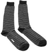 Missoni Gm00cmu4949 0001 Black/white Knee Length Socks.