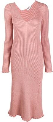 Jil Sander Ribbed Knit Midi Dress