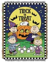 "Peanuts Spooky Gang"" Woven Tapestry Throw Blanket"