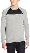 Calvin Klein Jeans Men's Nylon Pieced Crew Sweatshirt