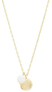 Gorjana Reese 18K Gold-Plated Cultured Freshwater Pearl Pendant Necklace, 18-20