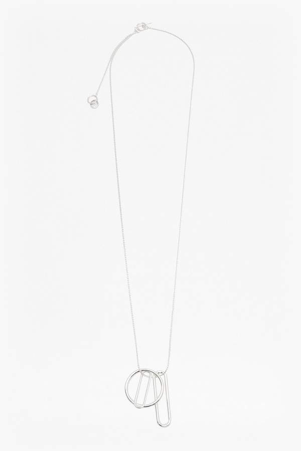French Connection Paperclip Pendant Long Necklace