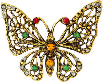 Yochi Multi Color Butterfly Brooch