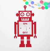 Oakdene Designs Light Switch Robot Vinyl Wall Sticker