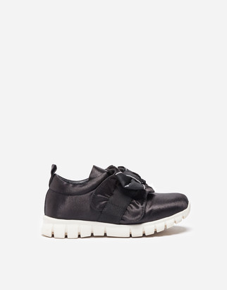 Dolce & Gabbana Satin Sneakers With Bow