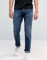 Jack & Jones Jack And Jones Regular Fit Jeans In Blue Denim
