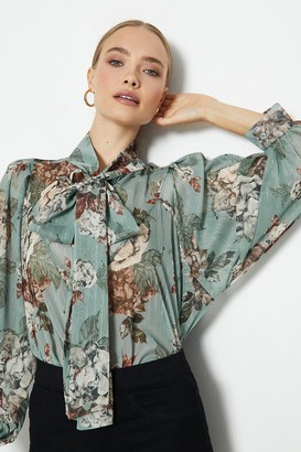 Coast Pussy Bow Smock Floral Blouse