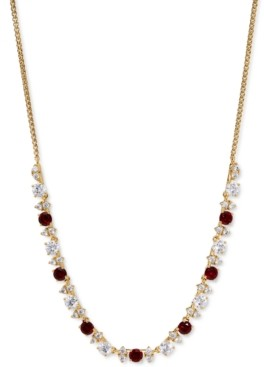 """Eliot Danori 18K Gold-Plated Cubic Zirconia Statement Necklace, 15"""" + 3"""" extender, Created for Macy's"""
