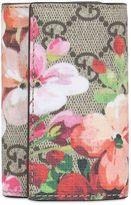 Gucci Blooms Print Gg Supreme Key Holder