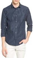 Scotch & Soda Men's Dobby Knit Woven Shirt