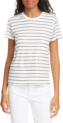 ATM Anthony Thomas Melillo Schoolboy Stripe Tee