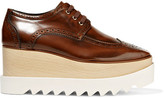 Stella McCartney Faux Leather Platform Brogues - Brown