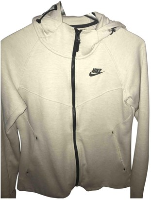 Nike White Cotton Jackets