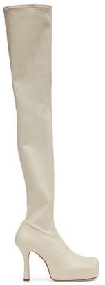 Bottega Veneta Leather Bold Thigh-High Boots 105