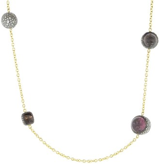 Todd Reed Spinel and Diamond Station Necklace