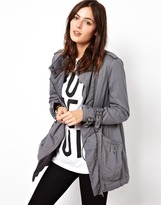 Asos Parka With Zip Details