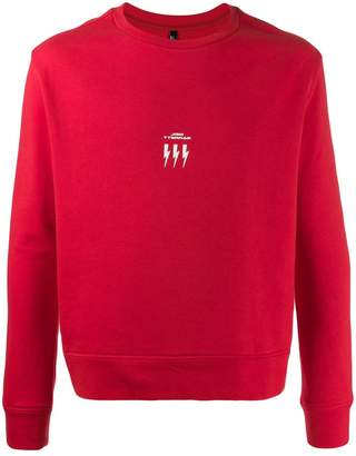 Neil Barrett crew neck logo sweater